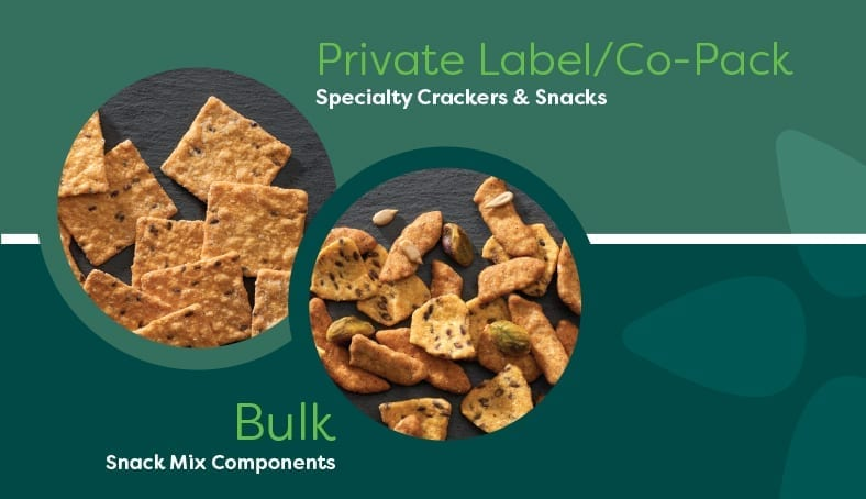 private label crackers, snack mix